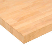 "72"" W x 36"" D x 2-1/4"" Thick Maple Butcher Block Square Edge Workbench Top"