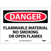 Signs With Safety Message Legend-Danger Flammable Material No...
