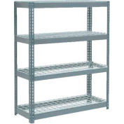"Extra Heavy Duty Shelving 48""W x 24""D x 60""H With 4 Shelves - Wire Deck - Gray"