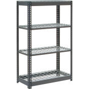 "Heavy Duty Shelving 36""W x 24""D x 60""H With 4 Shelves, Wire Deck"