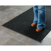 Deep Cleaning Ribbed Entrance Mat 3x10 Charcoal