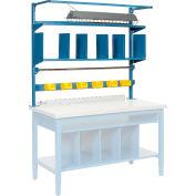 """60""""W Riser Kit With Dividers, Shelves & LED Light Kit"""
