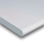 """48"""" W x 30"""" D x 1-5/8"""" Thick, Plastic Laminate Safety Edge Workbench Top, Light Gray"""