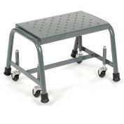 """Perforated 16""""W 1 Step Steel Rolling Ladder 20""""D Top Step"""