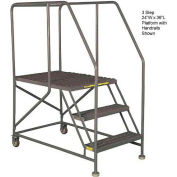 "Mobile 3 Step Steel 36""W X 36""L Work Platform Ladder Without Handrails"