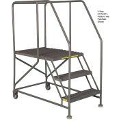 "Mobile 4 Step Steel 36""W X 48""L Work Platform Ladder Without Handrails"