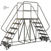 "4 Step Steel Double Entry Mobile Platform - 60""L x 24""W"