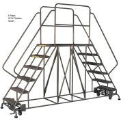 "5 Step Steel Double Entry Mobile Platform - 60""L x 36""W"