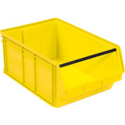 Quantum Magnum Plastic Stackable Storage Bin QMS743 18-3/8 x 29 x 11-7/8 Yellow