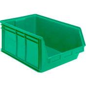 Quantum Magnum Plastic Stackable Storage Bin QMS543 18-3/8 x 19-3/4 x 11-7/8 Green