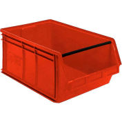 Quantum Magnum Plastic Stackable Storage Bin QMS543 18-3/8 x 19-3/4 x 11-7/8 Red