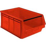 Quantum Magnum Plastic Stackable Storage Bin QMS543 18-3/8 x 19-3/4 x 11-7/8 Red