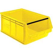 Quantum Magnum Plastic Stackable Storage Bin QMS543 18-3/8 x 19-3/4 x 11-7/8 Yellow