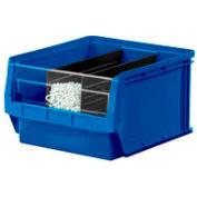 Quantum Magnum Plastic Stackable Storage Bin QMS532 12-3/8 x 19-3/4 x 7-7/8 Blue - Pkg Qty 6
