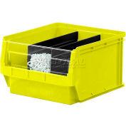 Quantum Magnum Plastic Stackable Storage Bin QMS532 12-3/8 x 19-3/4 x 7-7/8 Yellow - Pkg Qty 6