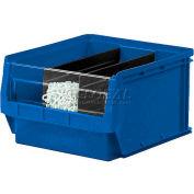 Quantum Magnum Plastic Stackable Storage Bin QMS531 12-3/8 x 19-3/4 x 5-7/8 Blue - Pkg Qty 6