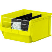 Quantum Magnum Plastic Stackable Storage Bin QMS531 12-3/8 x 19-3/4 x 5-7/8 Yellow - Pkg Qty 6