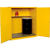 "Global™ Drum Storage Cabinet Double Door Manual Close Vertical - 59""W x 34""D x 65""H"