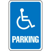 "Global Industrial™ Aluminum Sign - Parking Sign - Handicap Symbol, .063"" Thick, 649151"