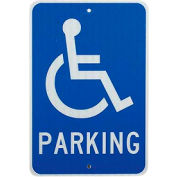 Aluminum Sign - Handicap Parking Logo - .080 mm Thick