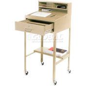"""23""""W x 20""""D Open Leg Mobile Shop Desk - Putty"""