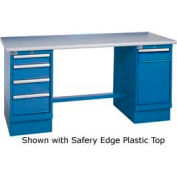 60 x 30 Maple Square Edge 4 Drawer & Cabinet Workbench