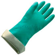 Flock Lined Large Nitrile Gloves - 18 Mil Size 9 - 1 Pair