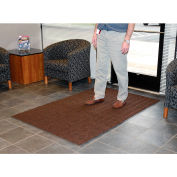 Chevron Ribbed  Mat 3x4 Brown