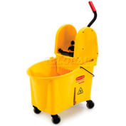 Rubbermaid Wavebrake® 44 Qt. Mop Bucket & Wringer Combo W/ Down Press, Yellow - RCP757688YW