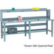 "96"" W x 30"" D Extra Long Steel Workbench - Gray"