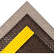 Ft 4ft W Diamond Plate Runner Mat Black-Yellow-Full 75 Ft Roll - Pkg Qty 60
