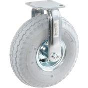 "Rigid Plate Caster 10"" Full Pneumatic Wheel 330 Lb. Capacity"