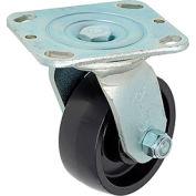 "Heavy Duty Swivel Plate Caster 4"" Molded Plastic Wheel 420 Lb. Capacity"