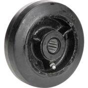 "5"" x 1-1/2"" Mold-On Rubber Wheel - Axle Size 3/4"""