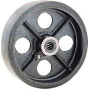 "5"" x 1-1/2"" Mold-On Rubber Wheel - Axle Size 1/2"""