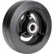 "6"" x 2"" Mold-On Rubber Wheel - Axle Size 3/4"""