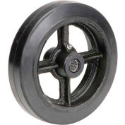 "8"" x 2"" Mold-On Rubber Wheel - Axle Size 3/4"""