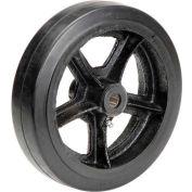 "10"" x 2-1/2"" Mold-On Rubber Wheel - Axle Size 3/4"""