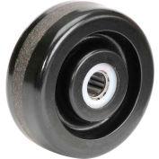 "4"" x 1-1/2"" Molded Plastic Wheel - Axle Size 5/8"""