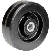 "6"" x 2"" Molded Plastic Wheel - Axle Size 3/4"""