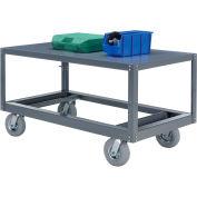 Portable Steel Table 1 Shelf 48x24 1200 Lb. Capacity Unassembled