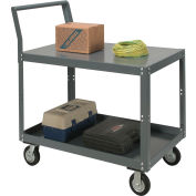 Two Shelf Unassembled Heavy Duty Service Cart 36 x 24 1200 Lb. Capacity