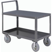 Two Shelf Unassembled Heavy Duty Service Cart 48 x 24 1200 Lb. Capacity