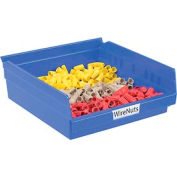 """Akro-Mils Plastic Shelf Bin, 11-1/8""""W x 11-5/8""""D x 4""""H Blue - Pkg Qty 12"""