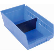 "Akro-Mils Shelf Bin Divider 40120 For 4""W x 4""H Shelf Bins, Black, Price Pack of 24"