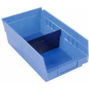 "Akro-Mils Shelf Bin Divider 40150 For 8""W x 4""H Shelf Bins, Black, Price Pack of 24"