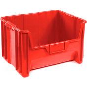 "Global™ Plastic Hopper Bin 19-7/8""W x 15-1/4""D x 12-7/16""H Red - Pkg Qty 3"