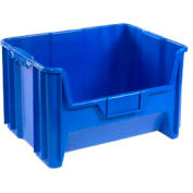Heavy Duty Plastic Hopper Bin - Blue - Price Each, Sold Pkg Qty 3 - Pkg Qty 3