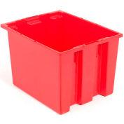 "Akro-Mils Nest & Stack Tote 35195 - 19-1/2""L x 15-1/2""W x 13""H, Red - Pkg Qty 6"