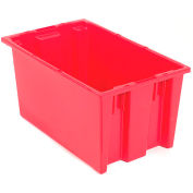 "Akro-Mils Nest & Stack Tote 35185 - 18""L x 11""W x 9""H, Red - Pkg Qty 6"